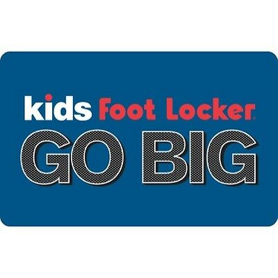 Kids Foot Locker Gift Card - $25 $50 or $100 - Fast Email Delivery