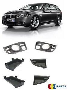 BMW-GENUINE-5-SERIES-F10-F11-LCI-M-SPORT-FRONT-BUMPER-GRILL-WITH-PLATES-PAIR-SET