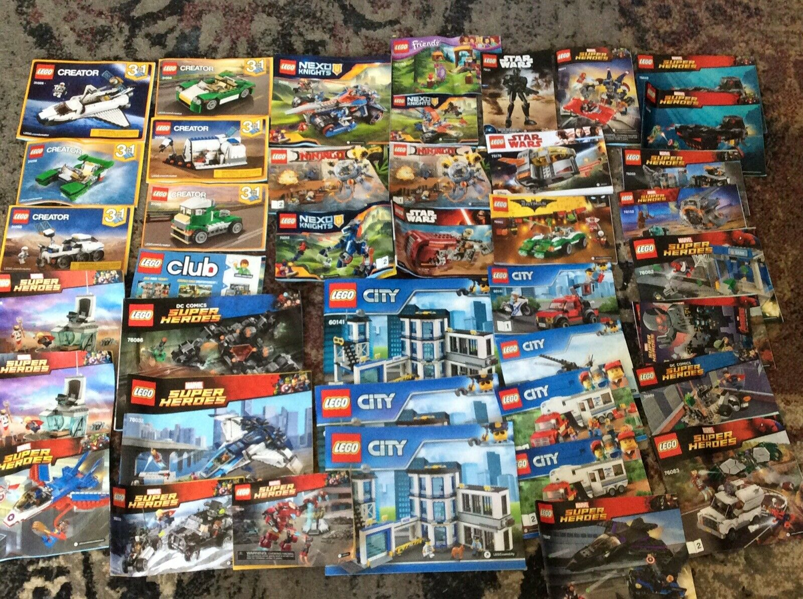 Lego Lego Lego Instruction Manuals Lot of 43 Booklets City Creator  Star Wars Super Hero 0cb51e