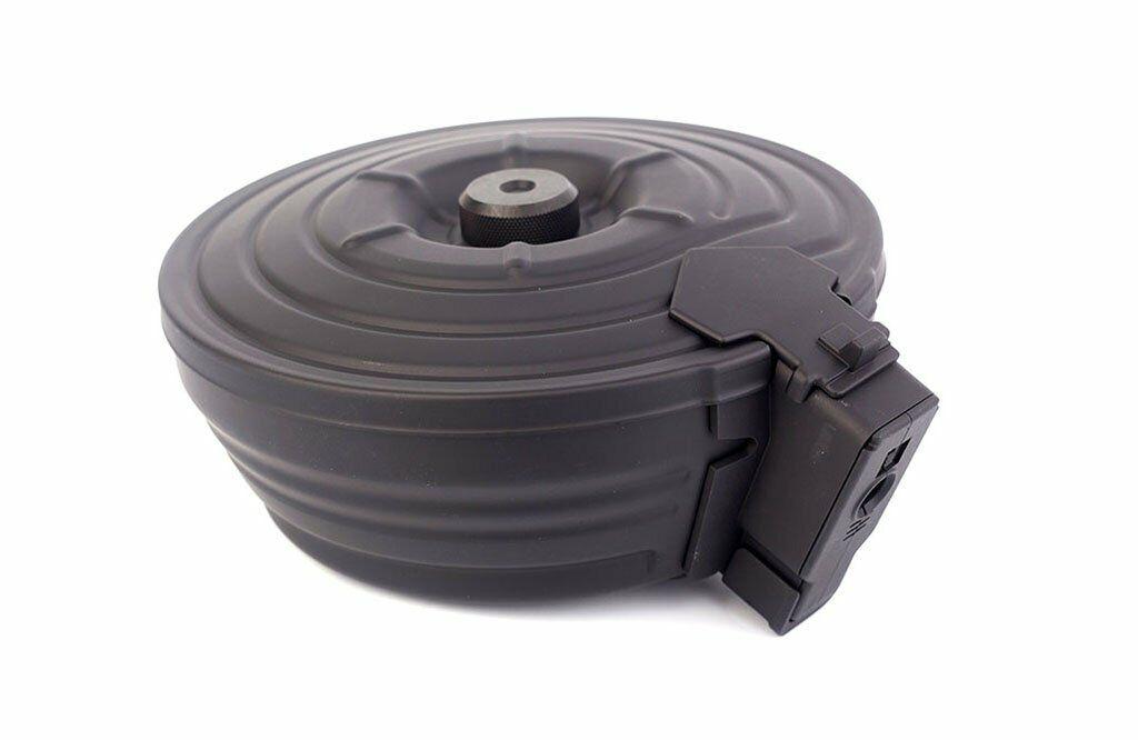 CYMA 2500rds Sound Control Airsoft Toy Magazine Drum for AK Series AEG BK C38S