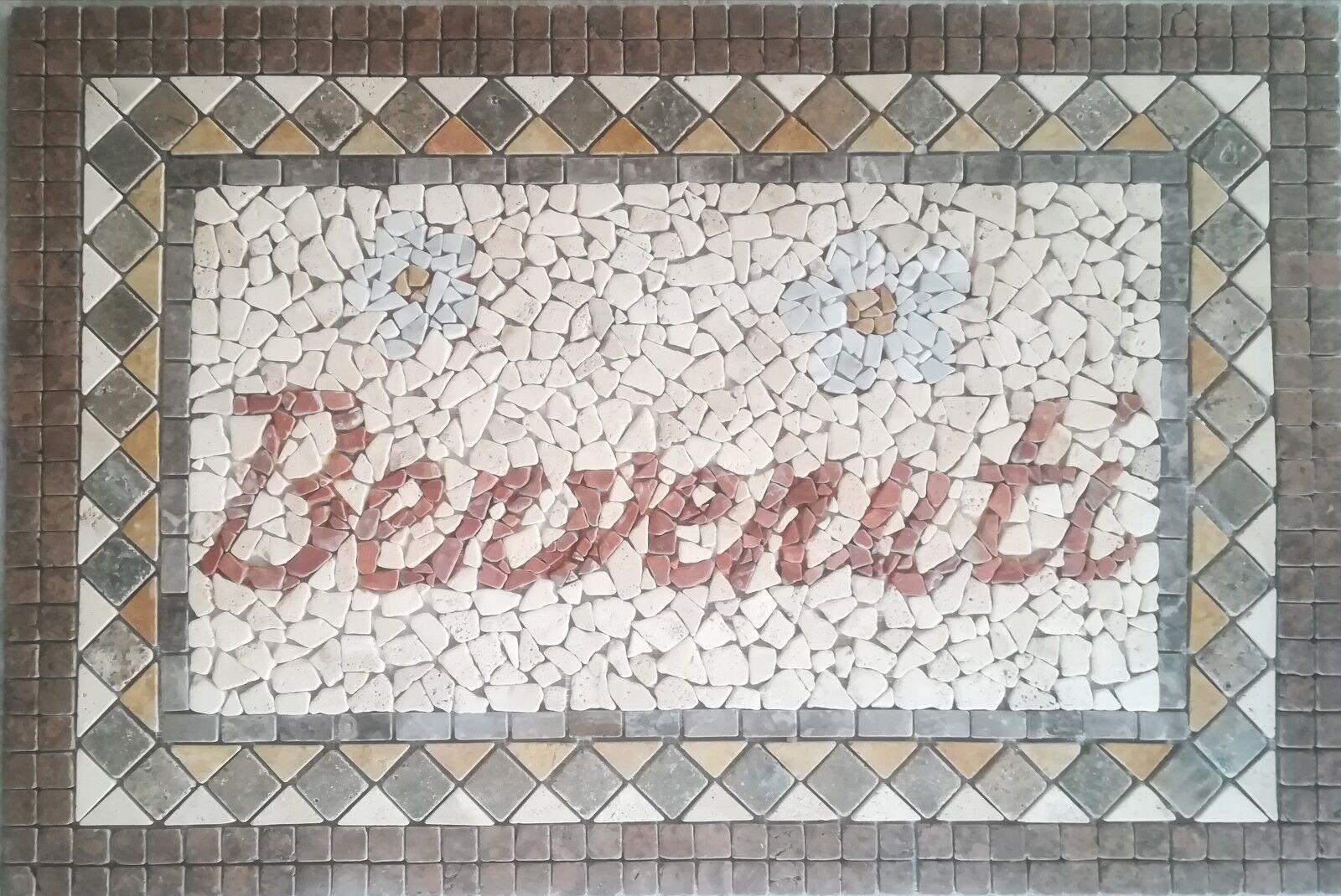 Rosoni rosone mosaico 120x80 incollata su rete Cod benvenuti