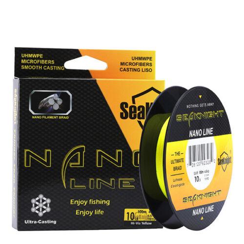 SeaKnight NANO 100M 4 Strands Braided Fishing Lines Multifilament PE Fine Thin