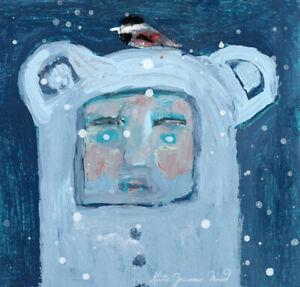 Chickadee-Bird-amp-Blue-Bear-Miniature-Painting-Katie-Jeanne-Wood
