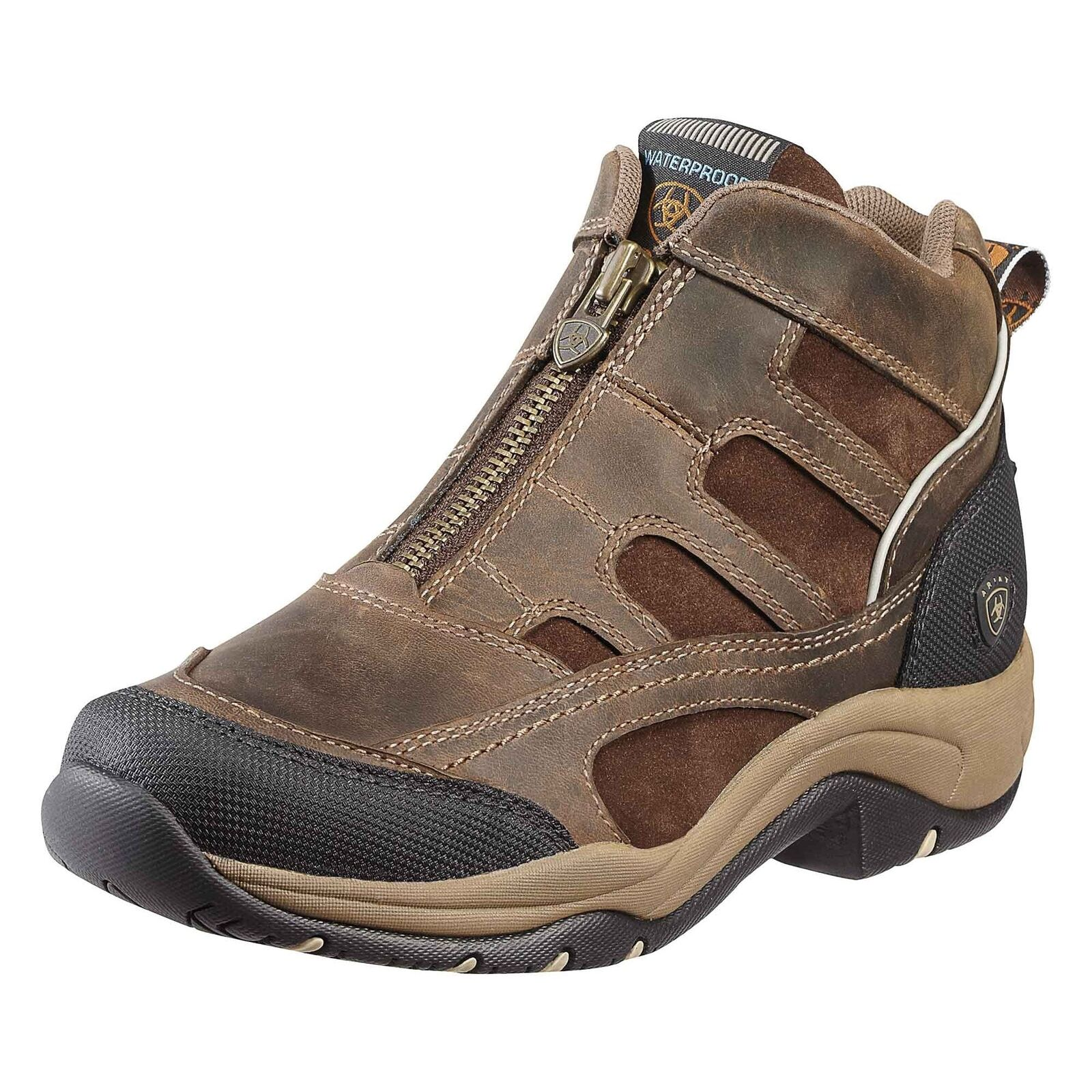 Ariat Terrain Zip H2O Boots Distressed Brown UK EU SIZES
