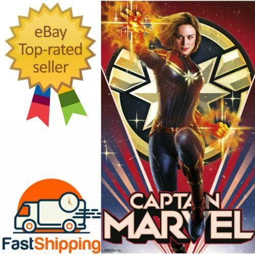 """Captain Marvel Heroic Poster 22.375/""""×34/"""""""