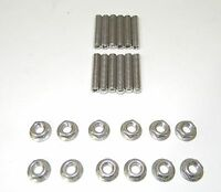 Big Block Chevy Stainless Steel Tri-power Carb Stud Kit