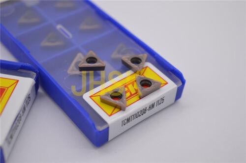 10pcs TCMT110208-HM 1125 TCMT21.52 For steel parts stainless steel cast iron