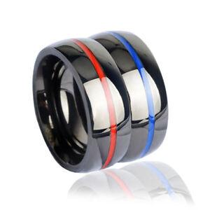8mm Men's Women's Wedding Band Rings Brushed Titanium Stainless Steel Ring 6-14