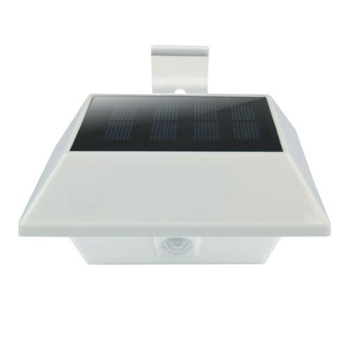 Solarleuchte 12 LEDs mit Bewegungsmelder Wandlampen Außenleuchte Kaltweiß 3Stk