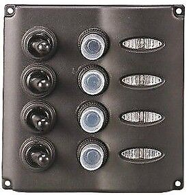 fusibili PANNELLO COMANDI OSCULATI quadretto elettrico 3 interruttori 12 volt