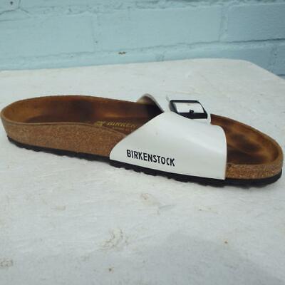 Birkenstock Sandals Size UK 6 Eur 39 Womens Buckles White Madrid Cork Sandals | eBay