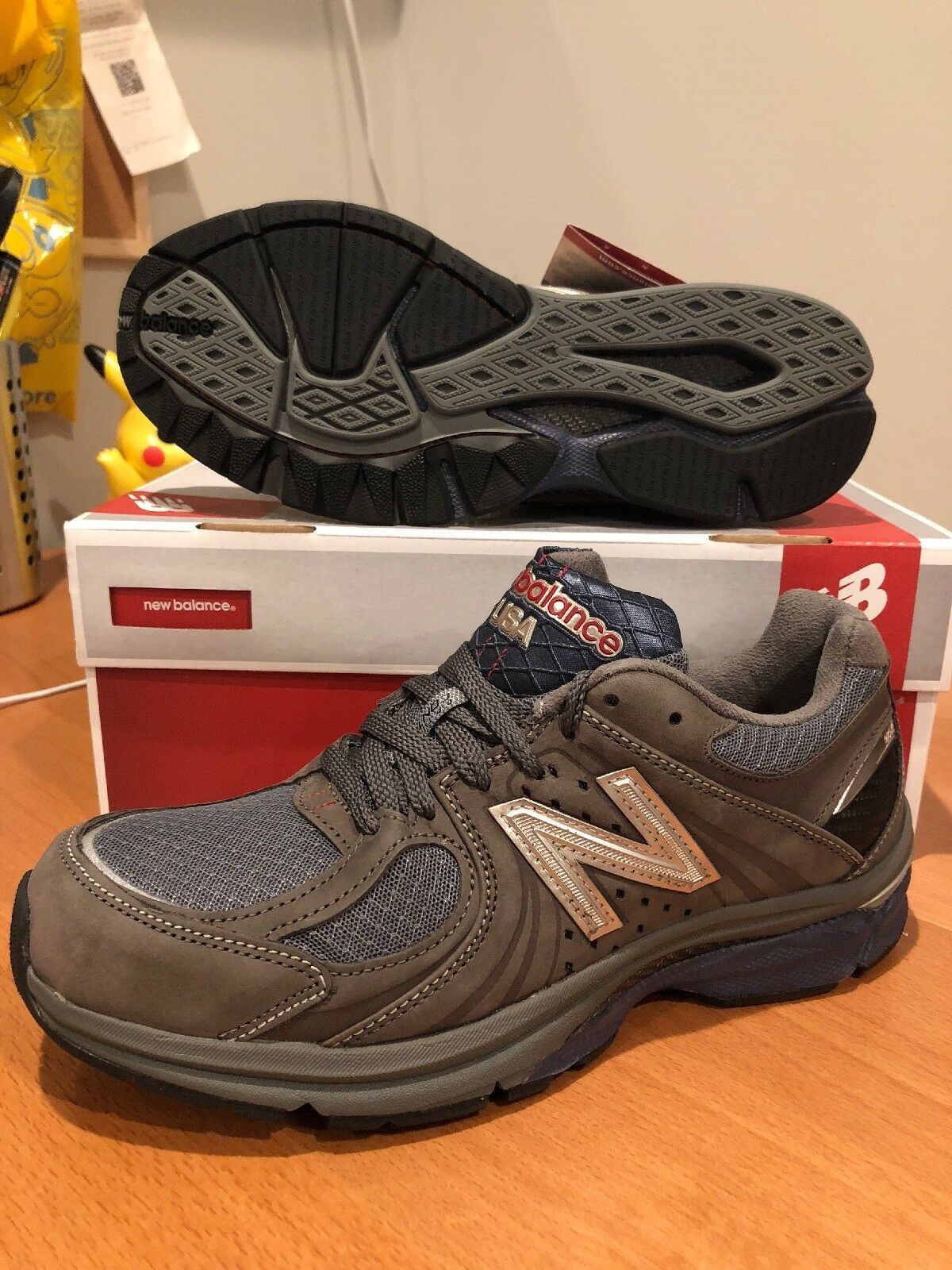 New Balance Uomo Running M2040GL1 Limited Edition Gray Suede 8 Made In  A Sz 8 Suede 2E bd3115