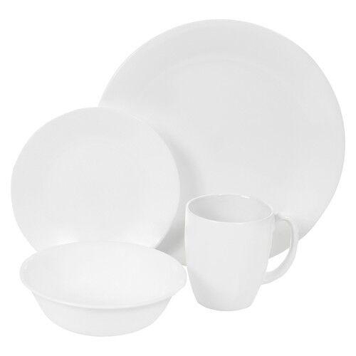 Corelle Livingware Winter Frost White 16 piece Dinnerware Set