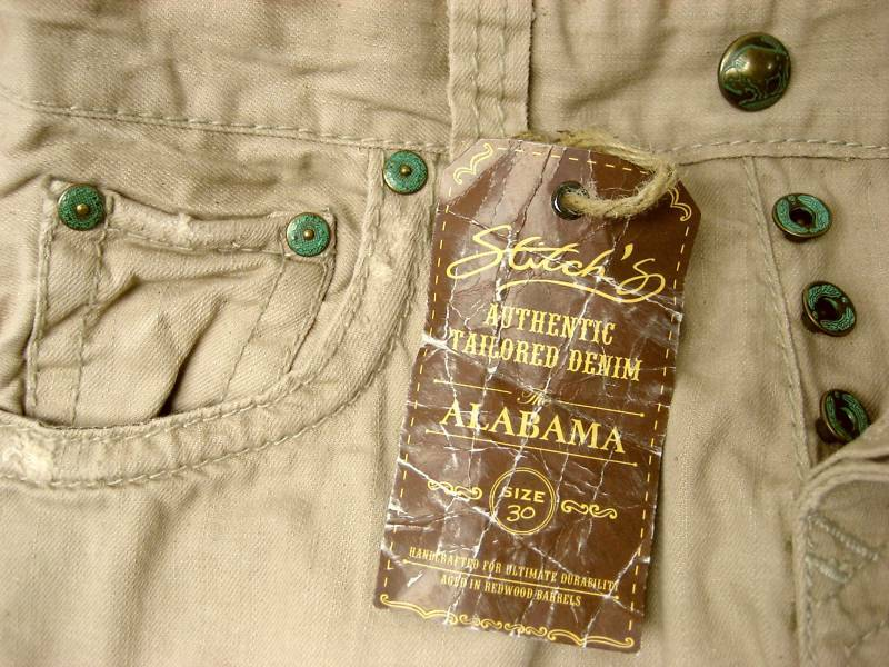 Stitch's 28 Men ALABAMA Jeans Pants 30 Casual Khaki Cotton Holiday Gift NEW