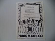 advertising Pubblicità 1930 RADIO FONOGRAFO MARELLI RADIOMARELLI CHILIOFONO