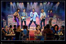 GEORGE BUNGARDA ~ LEGENDS THEATRE 24x36 POSTER Elvis Jimi Hendrix John Lennon