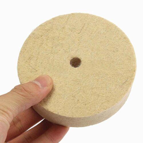 4/'/' Bijoux Polissage Lustrage Roue Laine Feutre Polisseuse Disque Pad 100x20mm