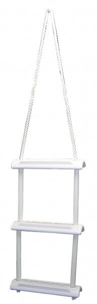 Echelle de Bain Échelles Bootsleiter Cordage et Kunststoffstufen white