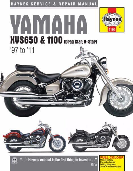 Yamaha Vstar V Star 650 1100 Classic Custom Silverado Haynes Repair Manual 4195 Ebay