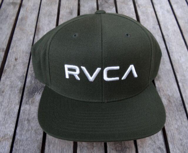 NEW RVCA UFC TEAM DKO TWILL GREEN MILITARY MENS SPORT SNAPBACK HAT  RHTRVC-168 740e0894b81a