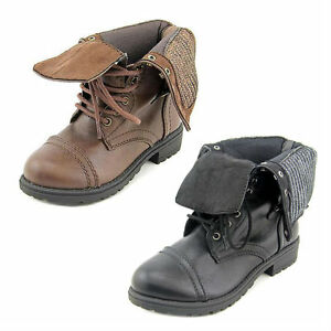 Sarah Jayne Karen Combat Boots Toddler and Girls Black or Brown ...