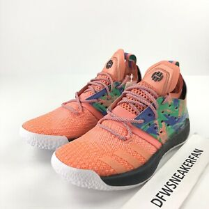 bec95a8cddc Image is loading Adidas-Harden-Vol-2-California-Dreamin-AH2219-Coral-