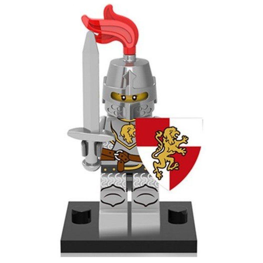 Arme Neuf Mini figurine personnage Chevalier au lion armure et bouclier