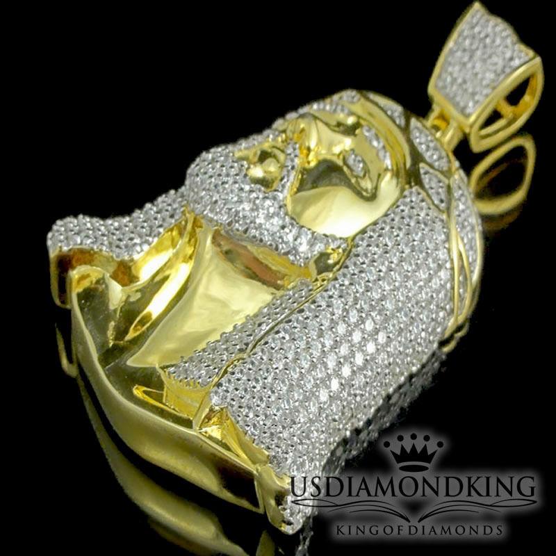 Design Classico Vero argentoo Sterling Sterling Sterling Finitura oro Giallo Gesù Ciondolo Uomo 218095