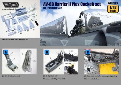 échelle 1//32 Wolfpack WP32069 AV-8B Harrier II plus Cockpit Set For TRUMPETER