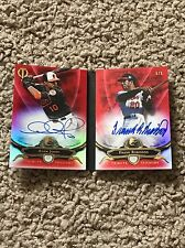 2016 Frank Robinson / Adam Jones Topps Tribute Tandem Book Autograph Card Red /5