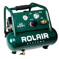 1/2 Hp Air Buddy Super Quiet Oil-less Air Compressor Rolair Ab5 on sale