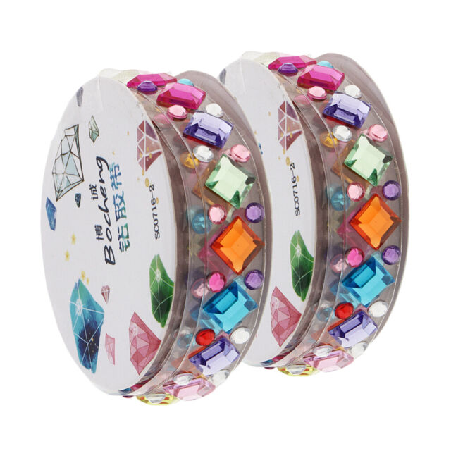 Self-Adhesive Rhinestones Crystal Tape Scrapbooking Paper Crafts Glitter Sticker