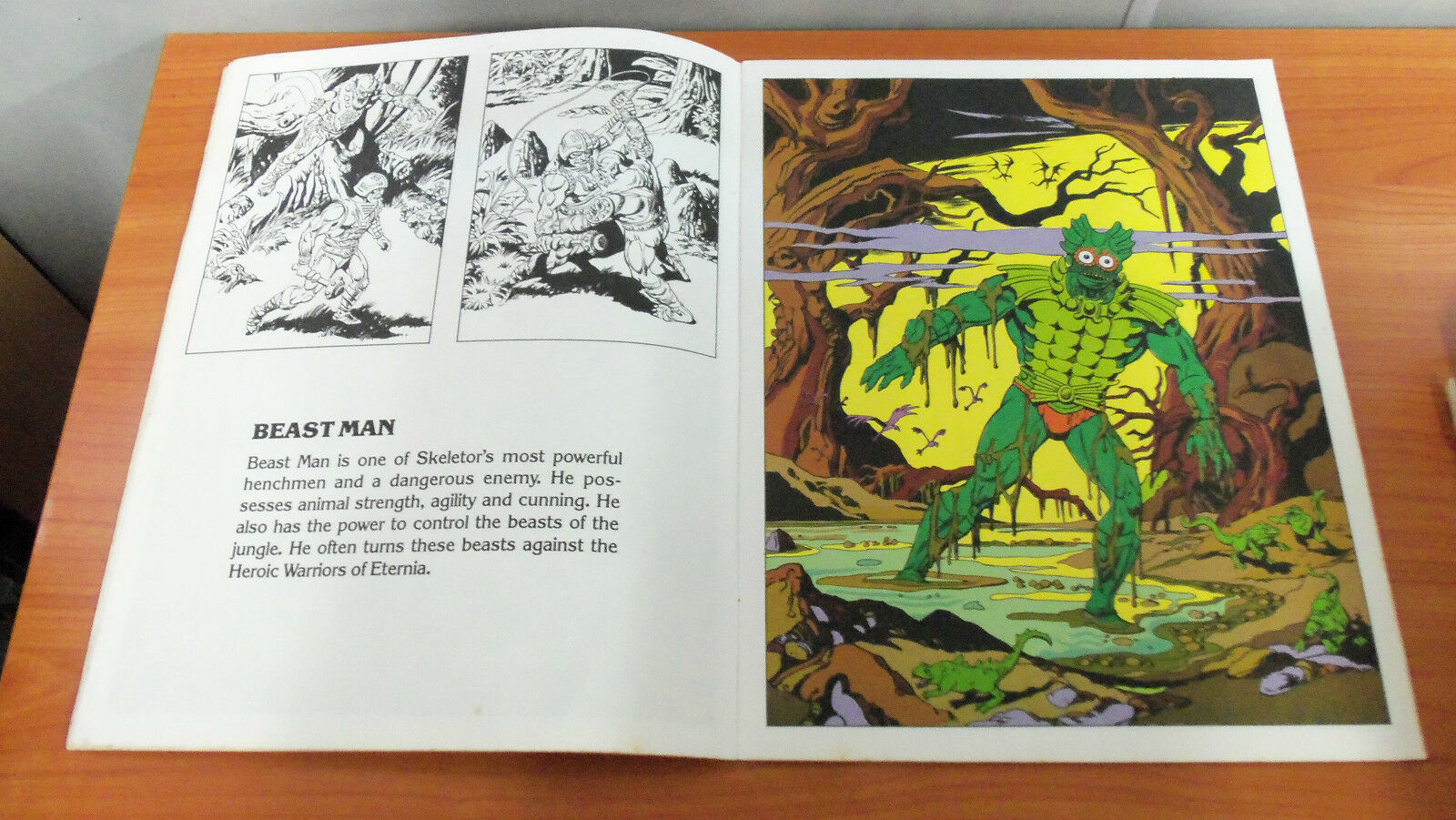 Rare Vintage 1984 Masters of the Universe Evil Warriors Warriors Warriors Giant Picture Book 7a7714