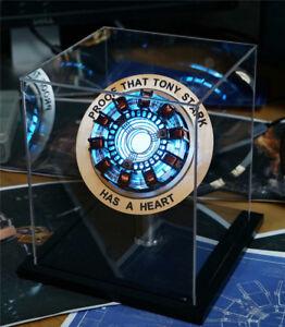 Marvel-Iron-Man-Arc-Reactor-Model-Kit-Led-Light-Figures-Show-Box-Alloy-Base-Gift