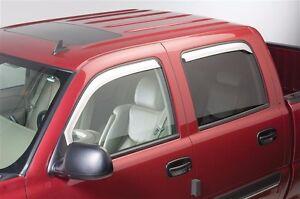 Chrome-Trim-Window-Visors-Fits-Dodge-Ram-1500-2500-amp-3500-2010-2019-Crew-Cab