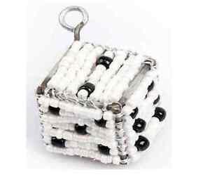 Responsable Beadworx-jeu / Dés-porte-clé - Perles Travail Populaire Perles De Verre-afficher Le Titre D'origine Nettoyage De La Cavité Buccale.