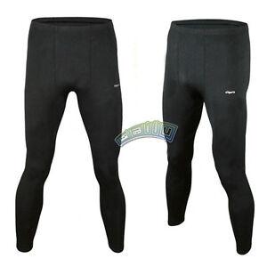 Mens Fleece-Lined Warm Sportwear Under Base Layers Thermal Pants Tight Leggings
