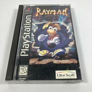 PS1-Rayman-Sony-PlayStation-1-1995-Black-Label-Long-Box-Tested-Working-Rare