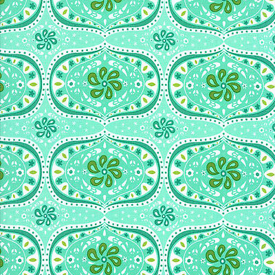 Folklore 11482-14 Peacock Moda Lily Ashbury Price is for 1 Yard 14 inches