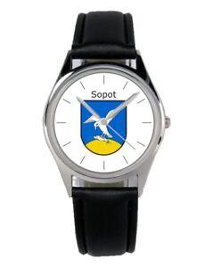 Uhren & Schmuck Sopot Zopot Polen Wappen Uhr 20110-b 2019 Offiziell