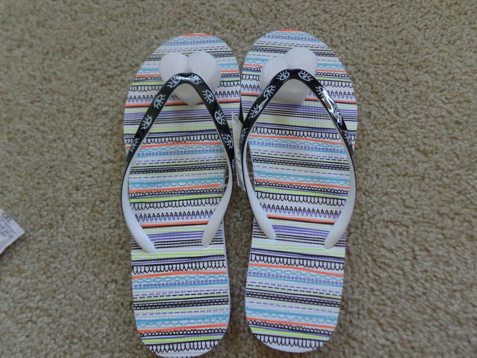 NWT Brand  Summer PATTERN flip flops from Aeropostale SQUIGGLE PATTERN Summer NWT 8683e2