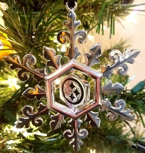 Pittsburgh Steelers Silver Plated Snowflake Ornament