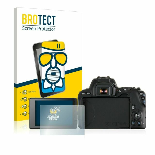 dipos I 2x Screen Protector matte compatible with Canon EOS M6 Mark II Flexible Glass 9H Display Protection