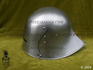 SCA LARP Medieval German Sallet Helmet Armor Helmet Halloween Replica
