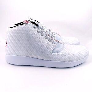 8d21e2535ef New Mens Jordan Eclipse Chukka White Gym Red Black Shoes Size 13 ...