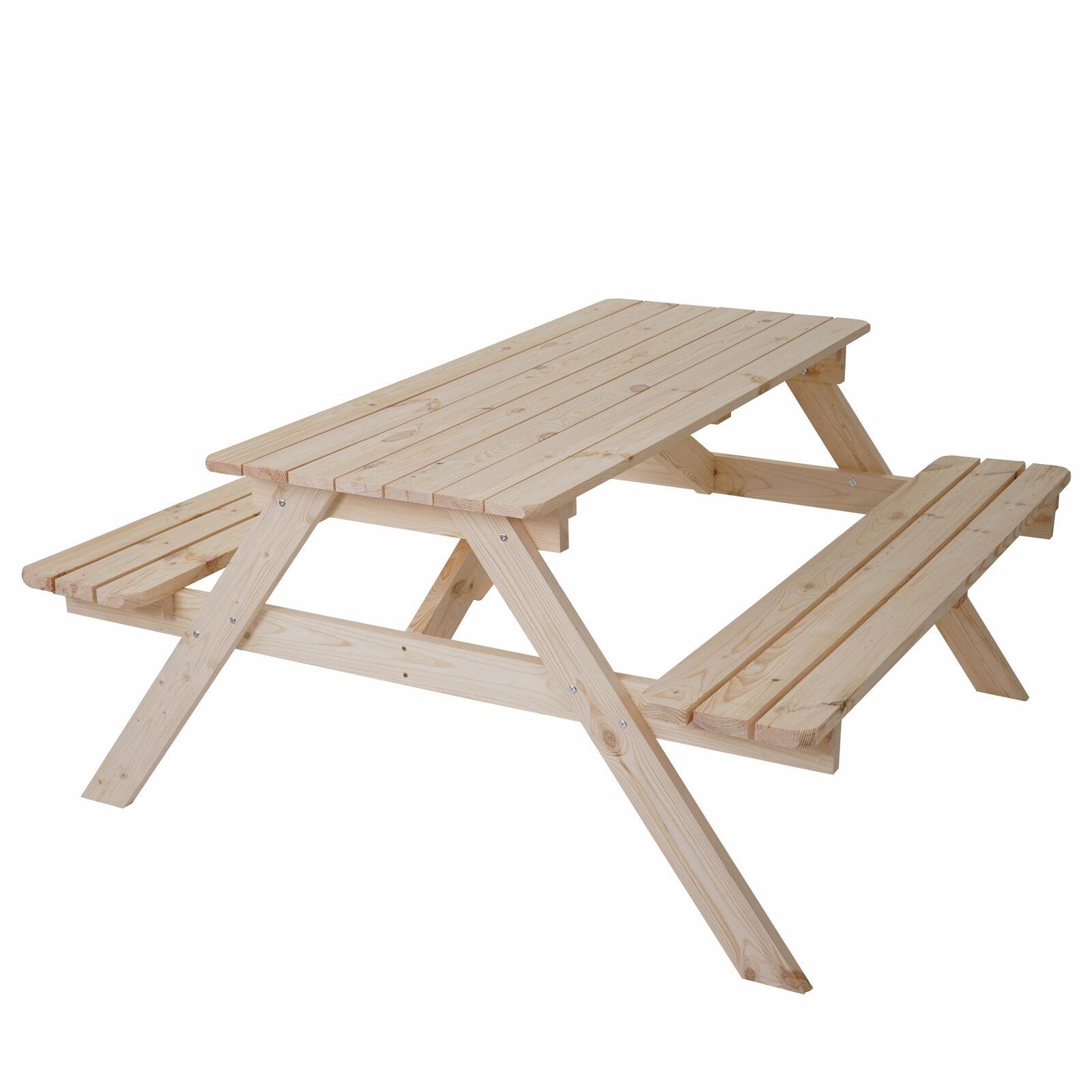 BIRRA Giardino-Set da Bergamo, Picnic-Set, legno gastroqualität massiccio 148x150cm