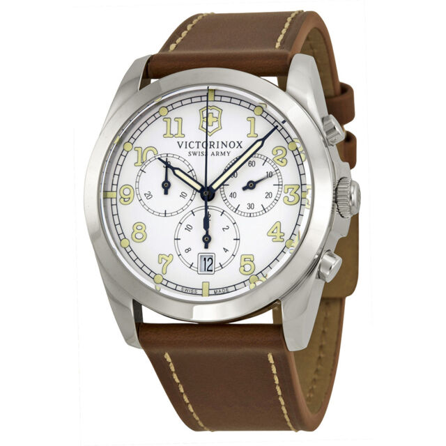 Victorinox Swiss Army Infantry Chronograph White Dial Mens Watch 241568