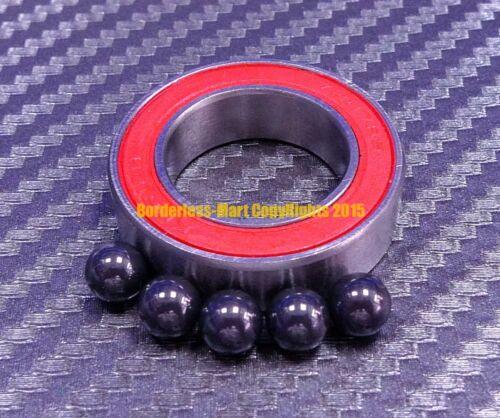 17x28x7 mm Hybrid Ceramic Ball Bearing Bearings 17287RS RED QTY 10 17287-2RS