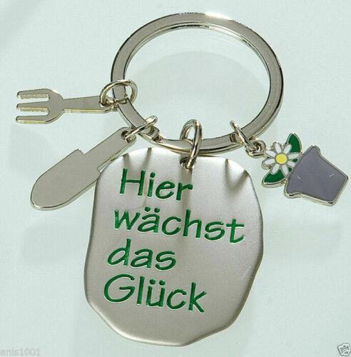 Gilde Schlüsselanhänger Hier wächst das Glück Metall stabile Ausführung 50965