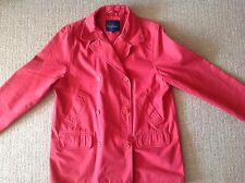 Boden Raspberry Thick Cotton Twill Double Breasted Coat 12 £10 Sale